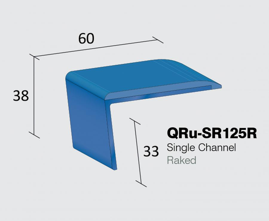 QRu-SR125R - Single Channel Raked