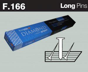 F166 - Diamond Carpet Gripper Pre-nailed for Concrete Floors, Long Pin