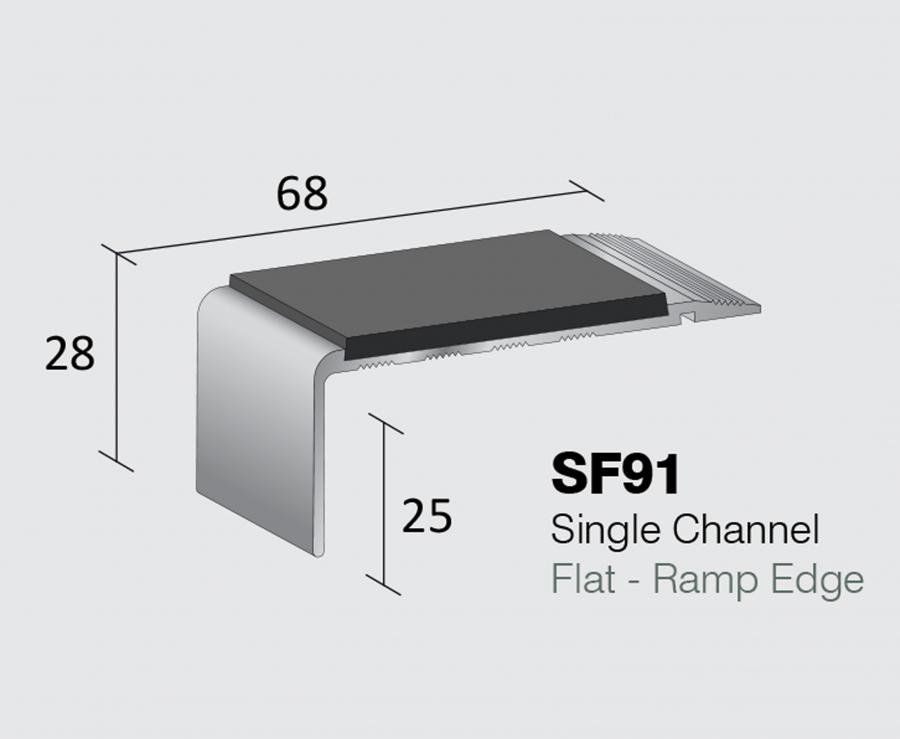 SF91 - Single Channel Flat - Ramp Edge