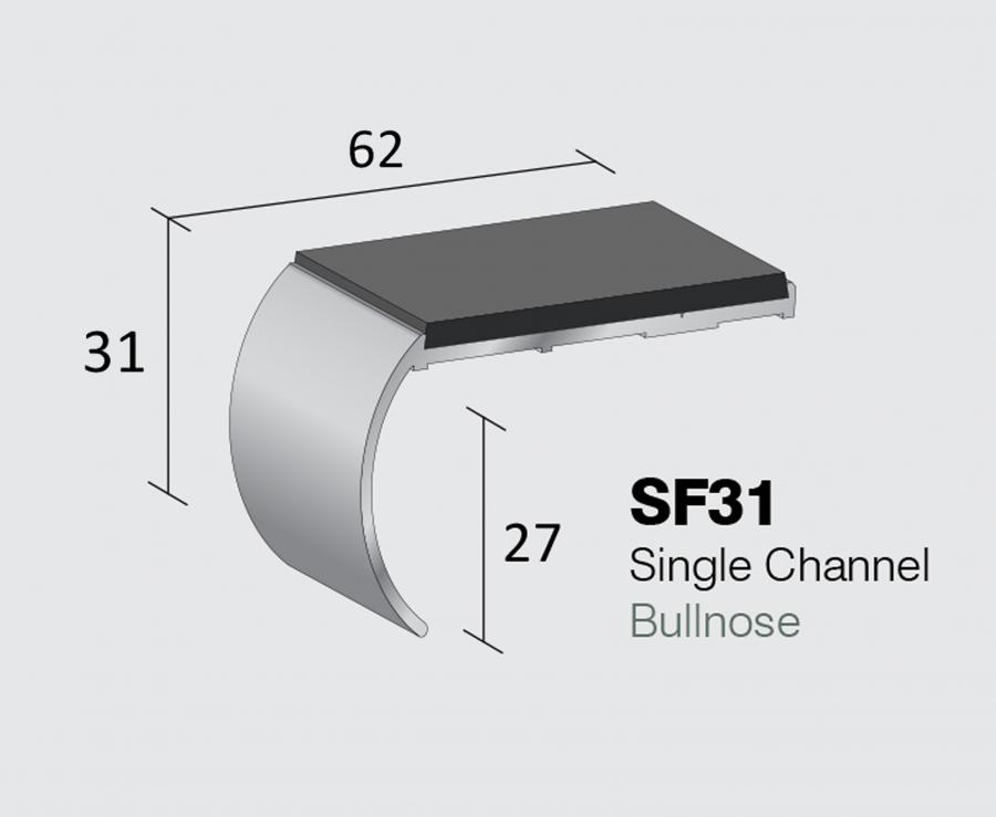 SF31 - Single Channel Bullnose