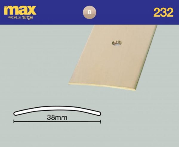 232 - Cover Strip 38mm - Solid Brass