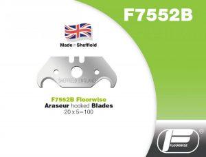 F7552B - Araseur Hooked Blades - 20 x 5 = 100