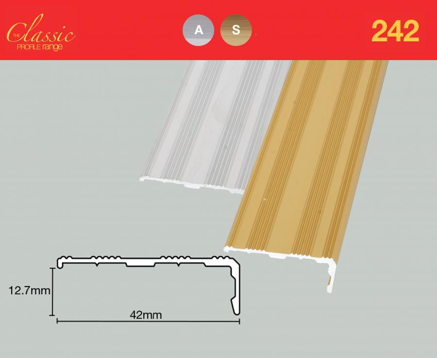 242 Stair Matwell Edge 42mm Floorwise