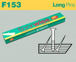 F153 - Pre-nailed Carpet Long Pin Gripper for Wooden Floors