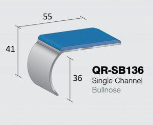 QR-SB136R - Single Channel Bullnose