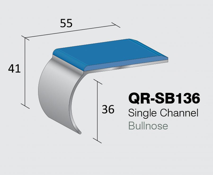QR-SB136R - Single Channel Bullnose