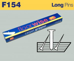 F154 - Pre-nailed Carpet Long Pin Gripper for Concrete Floors