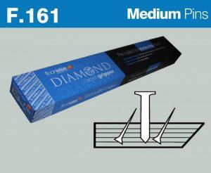F161 Diamond Carpet Gripper Pre-nailed for Concrete Floors, Medium Pin