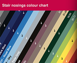 Stair Nosings Colour Chart