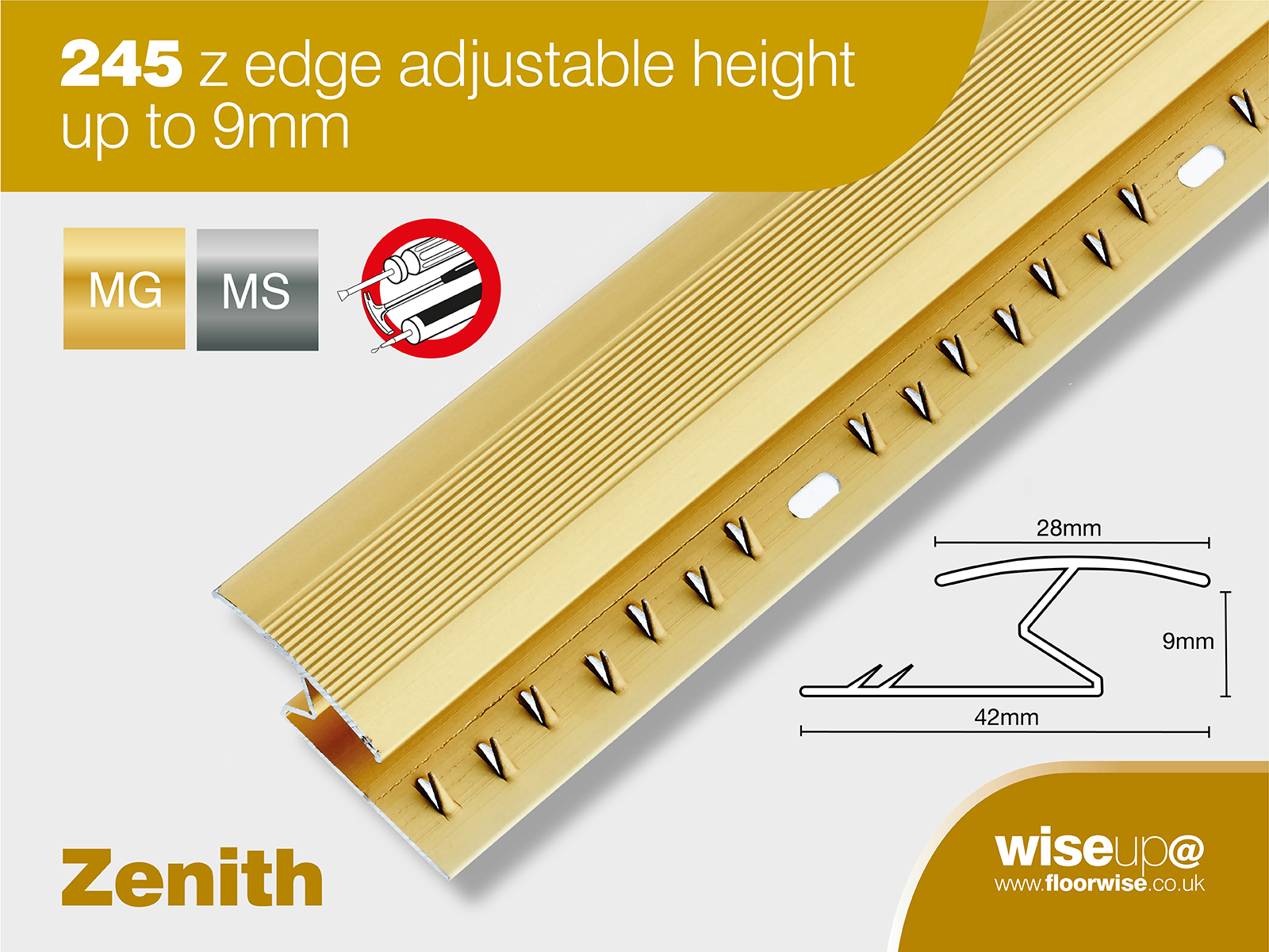 245 Z Edge Adjustable Height Up To 9mm Floorwise