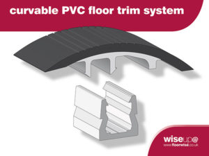 Curvable PVC floor trim system